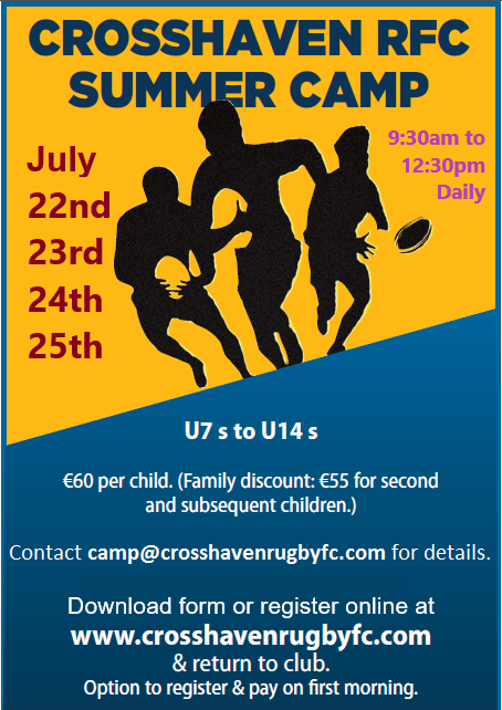 Crosshaven Rugby Summer Camp 2019